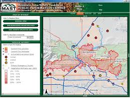 California Wildfire Fire Map by Arcnews Winter 2003 2004 Issue Gis Helps Response To Southern