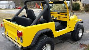 cj jeep yellow jeep cj7 full soft top with full soft doors no reserve