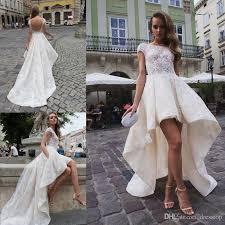 stylish wedding dresses discount stylish high low backless wedding dresses with cap