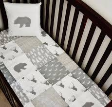 White Crib Set Bedding Crib Sheet Gray And White Tree Print Bed Sets Crib And Babies