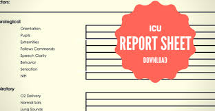 icu report template the ultimate guide to creating an icu report sheet for new
