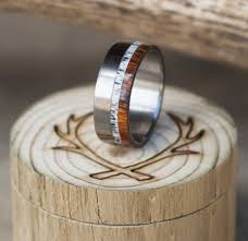 custom mens wedding bands ironwood wedding band with elk antler inlay available in titanium