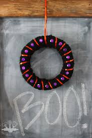 Halloween Wreath Easy Mini Halloween Wreath Domestically Creative