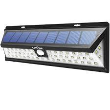Exterior Motion Sensor Light Litom 54 Led Solar Powered Outdoor Motion Sensing Light For 31 99