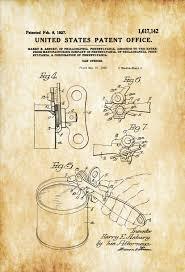 can opener patent print decor kitchen decor restaurant decor