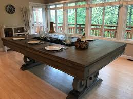 Pool Table Dining Table Rustic Dining Pool Table Industrial 7 Foot