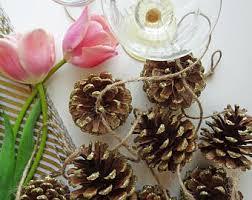 pinecone garland pinecone garland etsy
