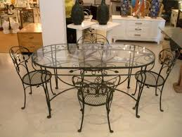 wrought iron dining table glass top favorable wrought iron rectangular dining ught iron dining chair