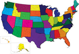 map of us without names us map with counties presentationmall