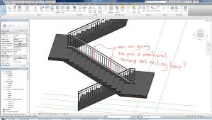 revit 2015 stair railing autodesk community