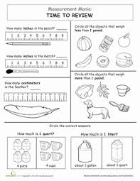 measurement mania time to review worksheet education com