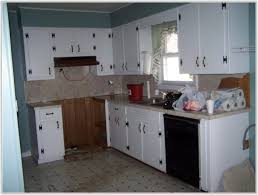 Kitchen Cabinets Repainted by Diy Painted Rustic Kitchen Cabinets Cabinet Home Decorating