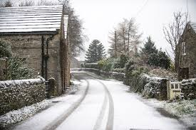 wintery storms see snow fall across the uk and the weather is