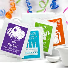 personalized tea bags personalized birthday tea bag party favors