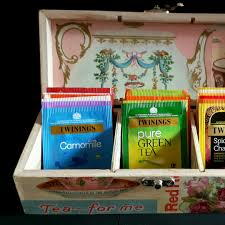 tea box tea storage decoupage box kitchen storage kitchen