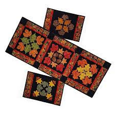 my holidays autumn s finest table runner and placemat set pattern