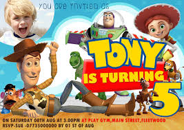 personalized toy story party invitations thank you cards