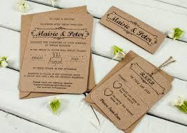 Wedding Invitation Information Card Kraft Wedding Invitations Bundle Norma U0026dorothy