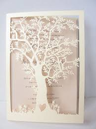 tree wedding invitations laser cut tree wedding invitation fall wedding invitation tree