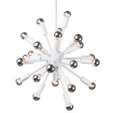 sputnik chandelier an iconic design for more than 50 years nuevo living sputnik l in white at modernist lighting