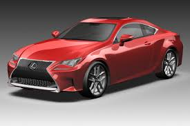 red lexus 2015 3d 2015 lexus rc coupe cgtrader