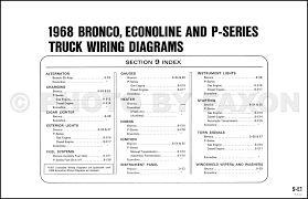 1968 ford bronco and p series wiring diagram original