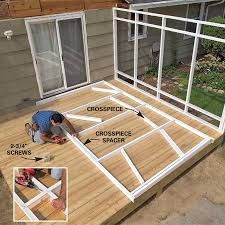 How To Build A Awning Over A Deck Fastening A Patio Roof To The House Patio Roof Patios And House