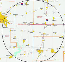Map Radius Arthur Area Association Of Commerce Location