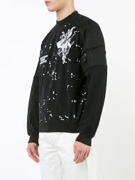 barneys carven carven embroidered trim sweatshirt 999 black men
