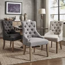 habit solid wood tufted parsons dining chairs set of 2 free living room furniture chair
