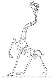learn draw melman giraffe madagascar madagascar