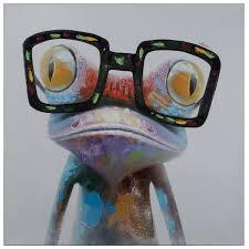 Sl Home Decor Amazon Com Yosemite Home Decor Artac0288 Hipster Froggy Multi