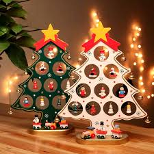 27cm wooden christmas tree hanging ornaments xmas table craft home