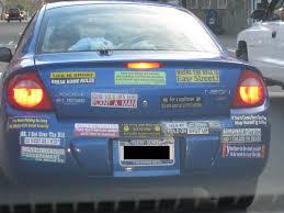 Legally Blind Driving Gentlemen Meet Your Worst Bumper Sticker Nightmare