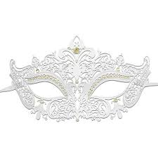 white masquerade masks for women sparkling white masquerade mask with glitter and rhinestone women