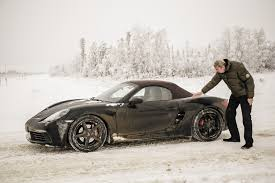 Porsche Boxster New Model - winter wonderland riding in the porsche 718 boxster prototype in