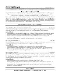 Logistic Resume Samples by Material Management Resume Sample Resume For Your Job Application