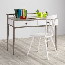 Kids Wood Desks by Wrightwood Grey Stain And White Desk The Land Of Nod