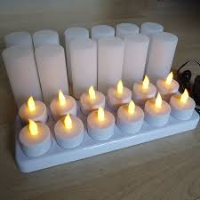 can you use tea light candles without holders of 12 rechargeable tea lights with candle holders