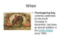 thanksgiving date fourth thursday divascuisine