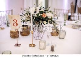 and groom flasks decorated table groom flasks candles stock photo 642695296