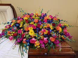 casket spray oceans of color casket spray in albuquerque nm flowers by zach low