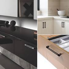 kitchen cabinets with silver handles hjy silver 6 5 16 160mm modern kitchen cabinets handles