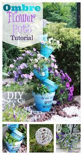 how to make ombre stenciled flower potsdiy show off u2013 diy