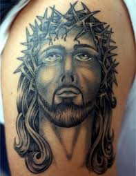 old tattoo with jesus face tattooimages biz