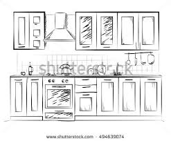 Free Design Kitchen Kitchen Sketch Stock Images Royalty Free Images Vectors
