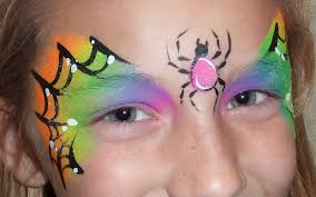 halloween face painting spider web youtube