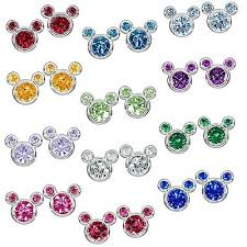 s birthstone earrings your wdw store disney earrings birthstone mickey mouse