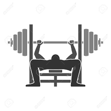 bench press icon royalty free cliparts vectors and stock