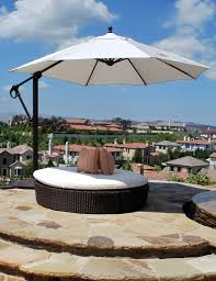 Bunnings Cantilever Umbrella by Furniture Tan Cantilever Patio Umbrella With Black Stand For
